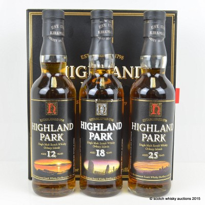 Highland Park 12, 18 & 25 Year Old 333ml Set