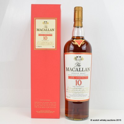 Macallan Cask Strength 10 Year Old Old Style 1L
