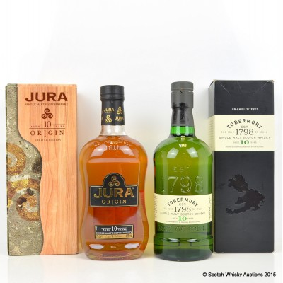 Jura Origin 10 Year Old & Tobermory 10 Year Old