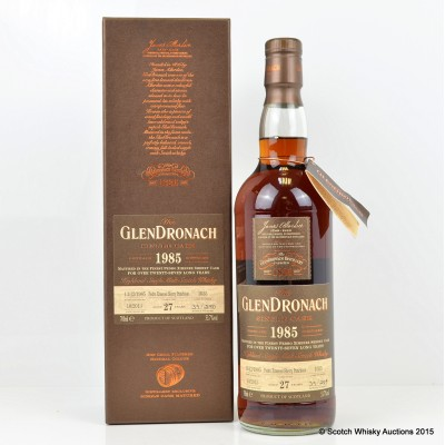 GlenDronach 1985 27 Year Old Single Cask #1035