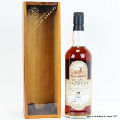 Glen Garioch 1968 29 Year Old Cask No:8