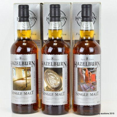 Hazelburn First Edition 8 Year Old Collection 3 x 70cl