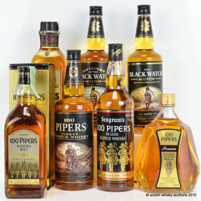 Seagram's 100 Pipers x 7