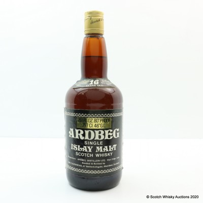 Ardbeg 1961 16 Year Old Cadenhead's 26 2/3 Fl Oz