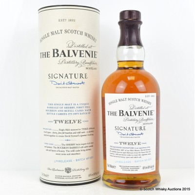 Balvenie Signature 12 Year Old Batch #1 Limited Release