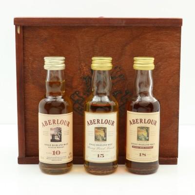 Aberlour 18, 15 & 10 Year Old Miniature Set 3 x 5cl