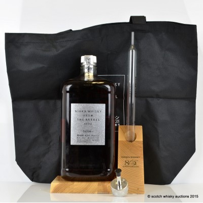 Nikka 80th Anniversary 3L, Wooden Display Plinth, Pourer and Large Pipette