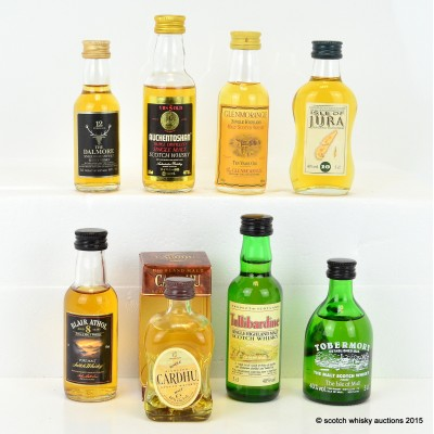 Assorted Minis x 8 Including Tobermory 10 Year Old 5cl