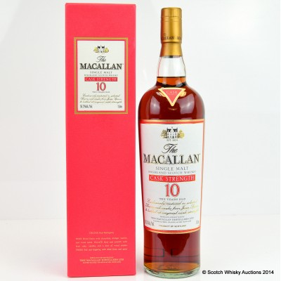 Macallan Cask Strength 10 Year Old 1L