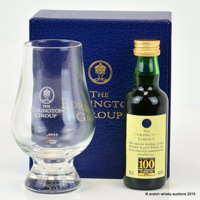 Edrington 100 Best Companies 2003 Mini & Glass Set
