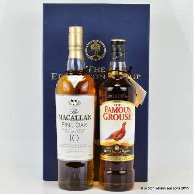 Edrington Group Celebrating Success Famous Grouse & Macallan Fine Oak 10 Year Old