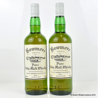 Bowmore Sherriff's 1996 Reproduction 75cl x 2
