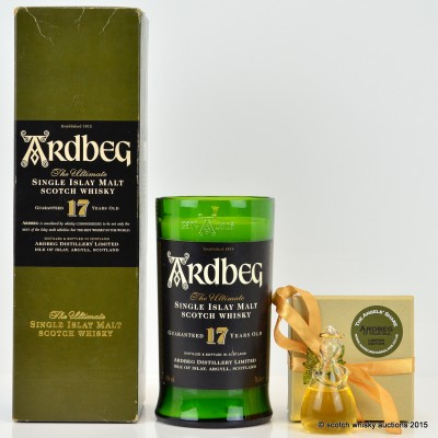 Ardbeg Angel's Share Angel 17 Year Old & Ardbeg Candle
