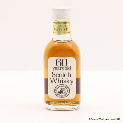 60 Year Old Scotch Whisky from The House of Buchanan Mini 5cl