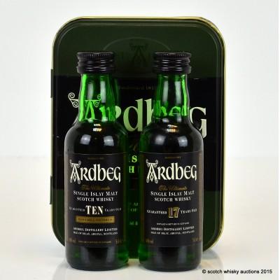 Ardbeg 10 Year Old & Ardbeg 17 Year Old Minis 2 x 5cl