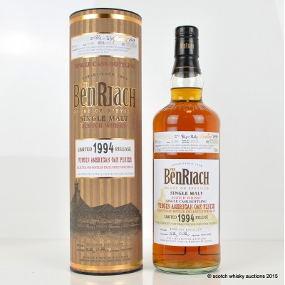BenRiach 1994 19 Year Old Peated Cask