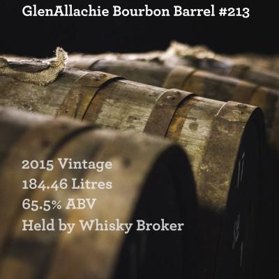 Cask - GlenAllachie 2015 Bourbon Barrel #213 - In Storage At WhiskyBroker