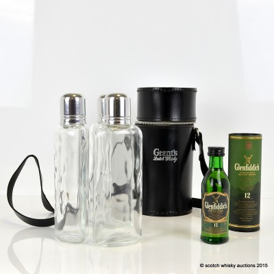 Glenfiddich 12 Year Old 5cl & Grant's Glenfiddich Hunter's Flask