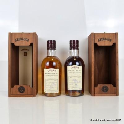 Aberlour Warehouse No 1 Single Bourbon Cask Selection 1995 16 Year Old & Sherry Cask Selection 1995 16 Year Old