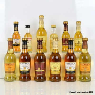 Glenmorangie Minis x 12 Including Nectar D'or 12 Year Old 10cl