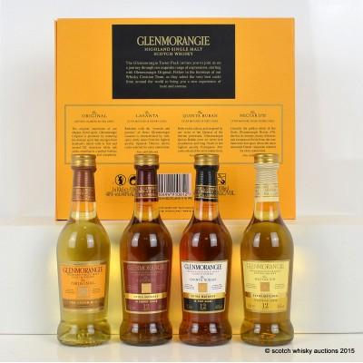 Glenmorangie Taster Pack 4 x 10cl & Glenmorangie Original, Glenmorangie Lasanta 12 Year Old, Glenmorangie Quinta Ruban 12 Year Old & Glenmorangie Nectar D'Or 12 Year Old