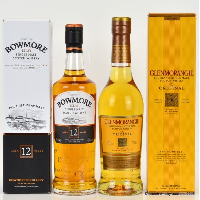 Glenmorangie Original 10 Year Old 35cl & Bowmore 12 Year Old 35cl