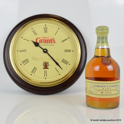 Gibson's Finest Rare 18 Year Old & Grant's Clock