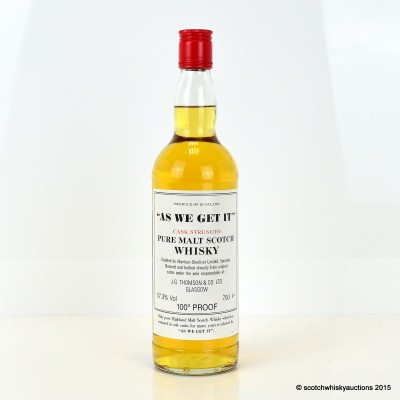 "Aberlour-Glenlivet ""As We Get It"" J.G. Thomson & Co"