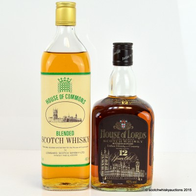 House Of Lords 12 Year Old 75cl & House of Commons 75cl