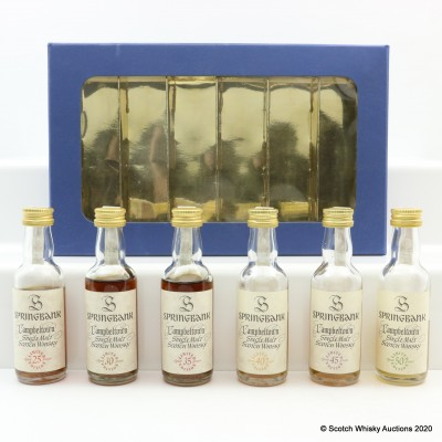 Springbank Millennium Collection Minis 6 x 5cl