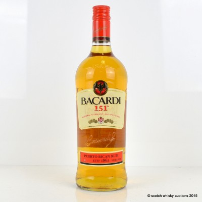 Bacardi 151° Proof Puerto Rican Rum 1L