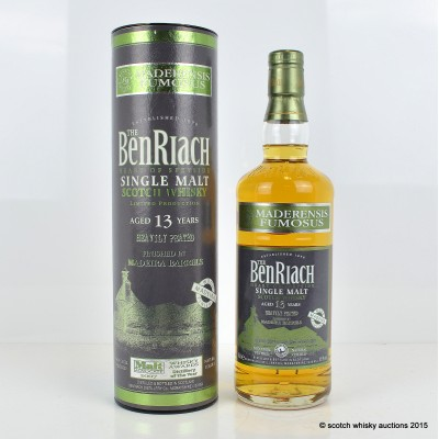 BenRiach Maderensis Fumosus 13 Year Old