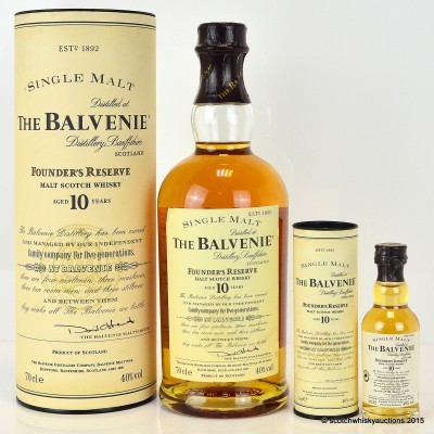 Balvenie Founder's Reserve 10 Year Old with Matching Mini