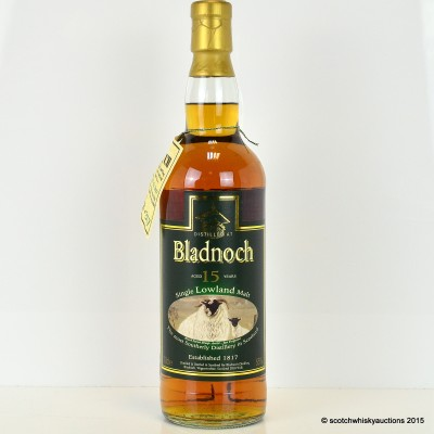 Bladnoch 15 Year Old Black Faced Sheep Label
