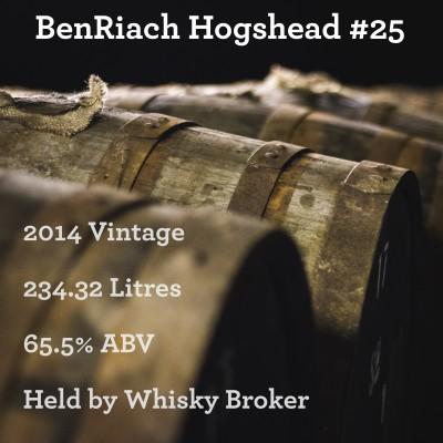 Cask - BenRiach 2014 Hogshead #25 - In Storage At Whisky Broker