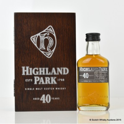 Highland Park 40 Year Old Mini 5cl