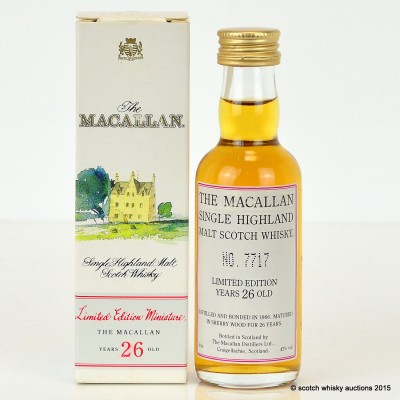 Macallan 26 Year Old 1966 Mini 5cl