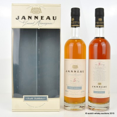 Janneau 8 Year Old 50cl & 5 Year Old 50cl Grand Armagnac Set