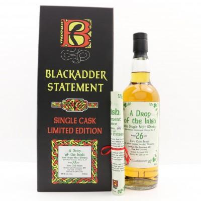 A Drop Of The Irish 1989 26 Year Old Blackadder Statement Edition No20