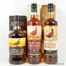 Famous Grouse 12 Year Old Gold Reserve, Famous Grouse Port Cask Finish & Famous Grouse Diamond Jubileee