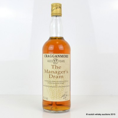 Manager's Dram Cragganmore 17 Year Old