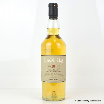 Caol Ila 10 Year Old Unpeated 2009 Release