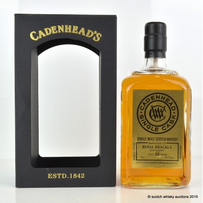 Cadenhead's Royal Brackla 1984 30 Year Old Single Cask