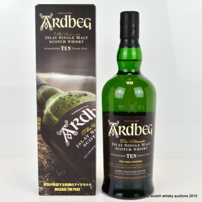 Ardbeg 10 Year Old Release The Peat Japanese Release