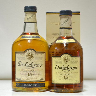 Dalwhinnie 15 and Dalwhinnie 100 Years 1L