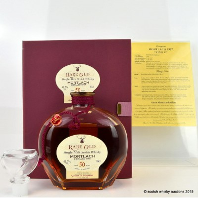 Mortlach 1957 50 Year Old G&M Rare Old