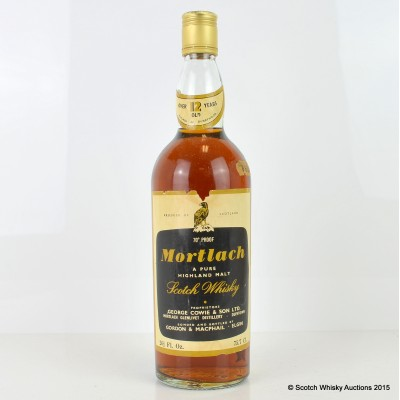 Mortlach 12 Year Old G&M 26 2/3 Fl Oz