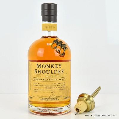 Monkey Shoulder Batch #27 & Monkey Shoulder Metal Pourer