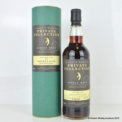Mortlach 1968 37 Years Old G&M Private Collection