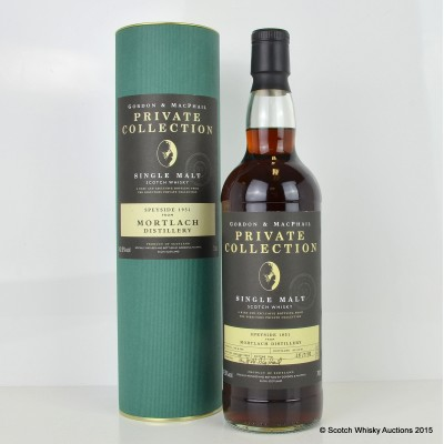 Mortlach 1951 53 Years Old G&M Private Collection